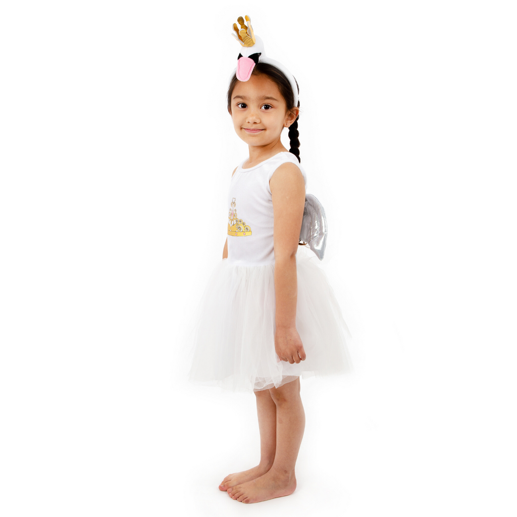 Children's Swan Tutu Dress with Headband