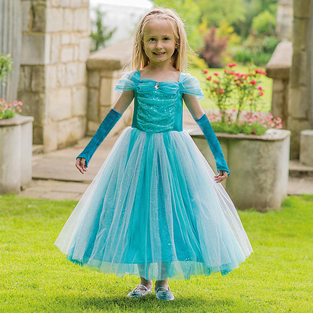 Children's Turquoise Sparkle Princess Dress , Children's Costume - Travis Designs, Ayshea Elliott