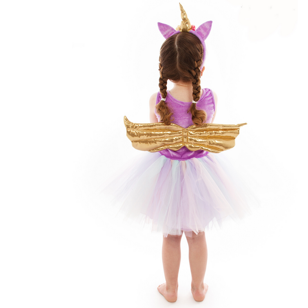 Children's Unicorn Tutu Dress with Headband
