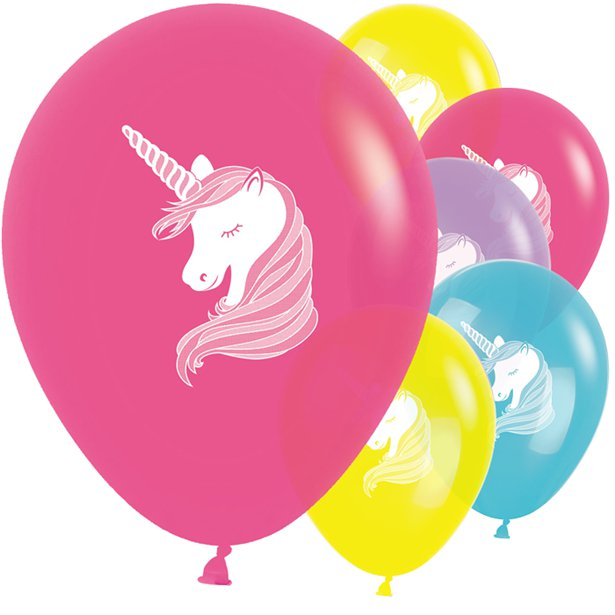 Unicorn- Pk 25 Assorted Balloons -11 inch