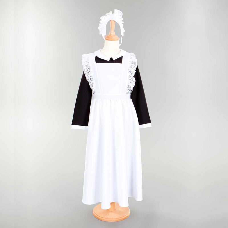Children's Victorian Housemaid Dress With Head Dress , Children's Costume - Pretend to Bee, Ayshea Elliott