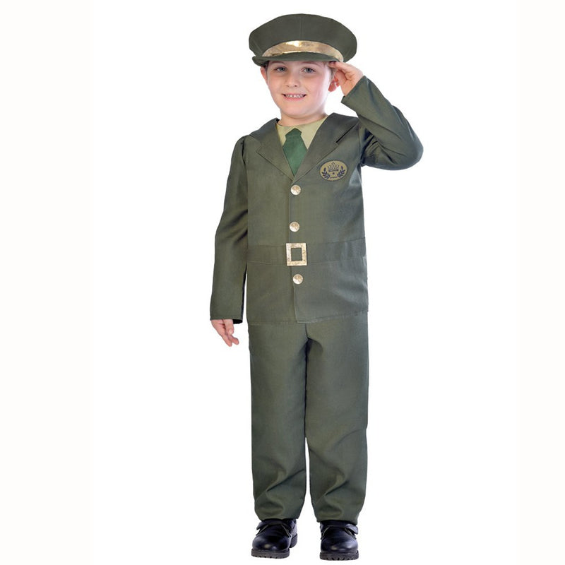 WW2 Boy Soldier Fancy Dress Costume