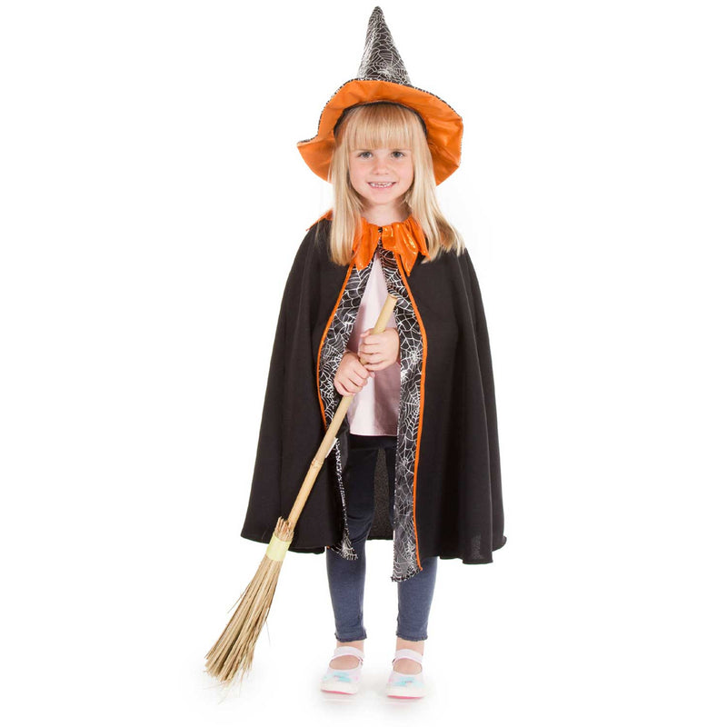 Children's Witch Cape and Hat Fancy Dress Costume - Pretend to Bee