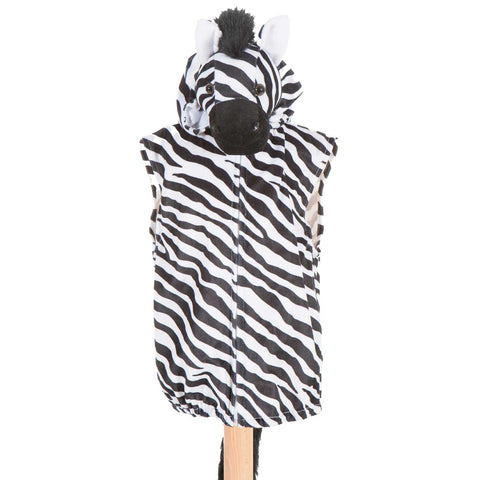 Children's Zebra Fancy Dress Zip Top