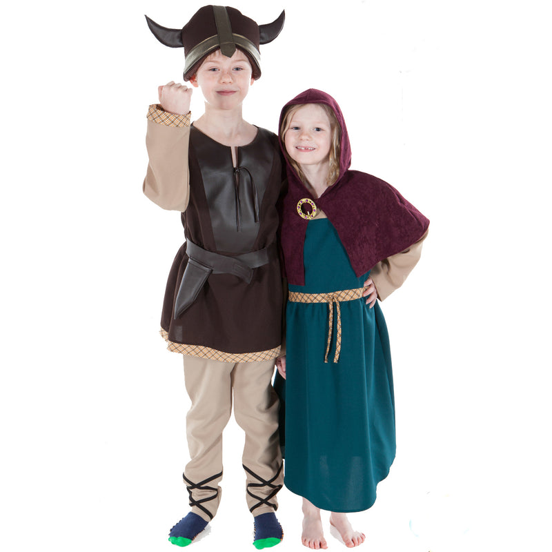 Children's Viking Man and Woman Costume , Children's Costume - Pretend to Bee