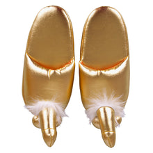 Load image into Gallery viewer, Golden Penis Slippers - Dressed 2 Digress Limited
