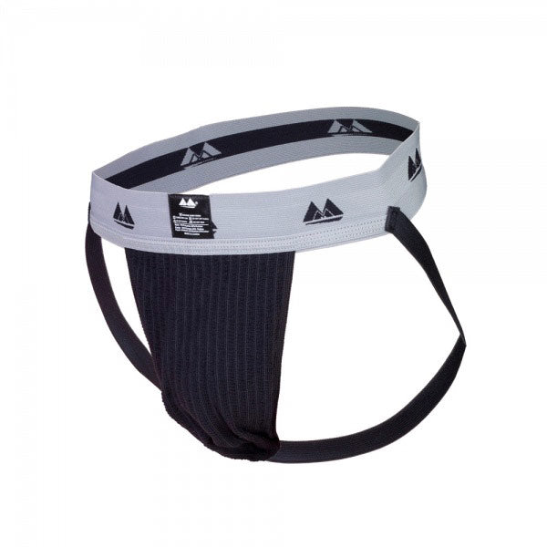 Bike Jockstrap Black with 2 Inch Waistband - Dressed 2 Digress Ltd