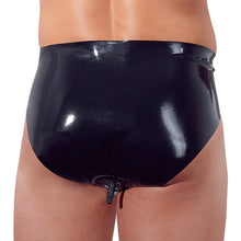 Load image into Gallery viewer, Latex Briefs with Anal Plug - Dressed 2 Digress Ltd
