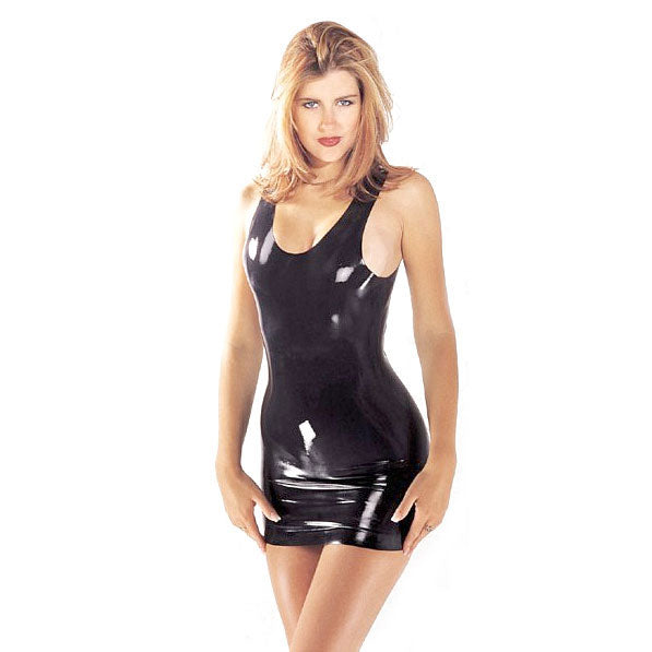 Latex Mini Dress Black