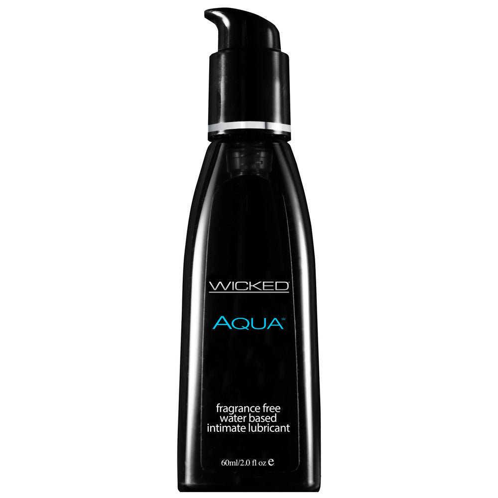 Wicked Aqua Fragrance Free Waterbase Lubricant 60mls - Dressed 2 Digress Limited