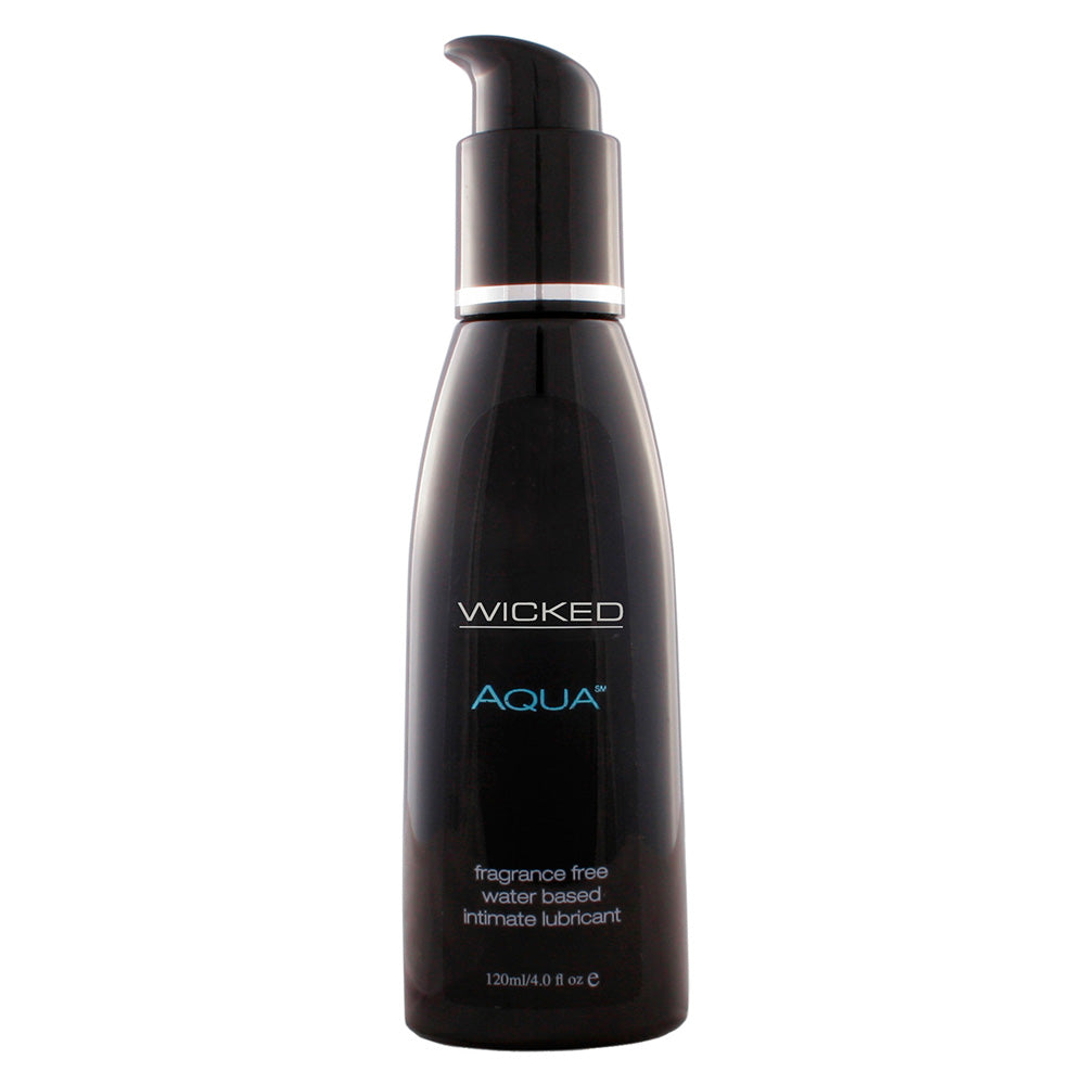 Wicked Aqua Fragrance Free Water Based Lube 120ml - Dressed 2 Digress Limited