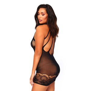 Leg Avenue Floral Lace Opaque Mini Dress UK 16 to 18 - Dressed 2 Digress Ltd