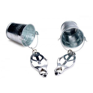 Master Series Nipple Clamps with Buckets - Dressed 2 Digress Limited