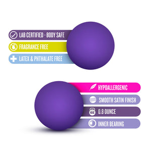 Luxe Purple Double O Kegel Balls Weighted 0.8 Ounce - Dressed 2 Digress Limited