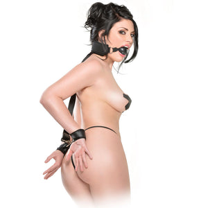 Fetish Fantasy Series  Gag And Wrist Restraint - Dressed 2 Digress Limited