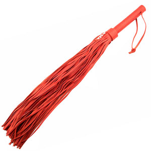 Rouge Garments Large Red Leather Flogger - Dressed 2 Digress Ltd