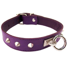 Load image into Gallery viewer, Rouge Garments Purple Studded ORing Studded Collar - Dressed 2 Digress Ltd
