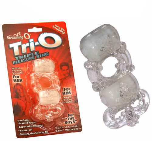 Screaming O TriO Vibrating Pleasure Cock Ring - Dressed 2 Digress Ltd