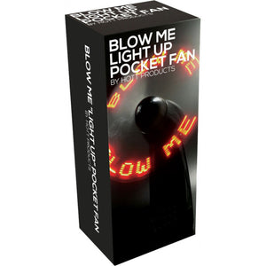 Blow Me Light Up Pocket Fan Black - Dressed 2 Digress Limited