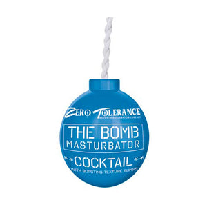 The Bomb Masturbator Cocktail Textured Stroker Sleeve Blue - Dressed 2 Digress Limited
