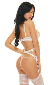 Beauty Night Diamond Bra Set BN6534 White - Dressed 2 Digress Limited