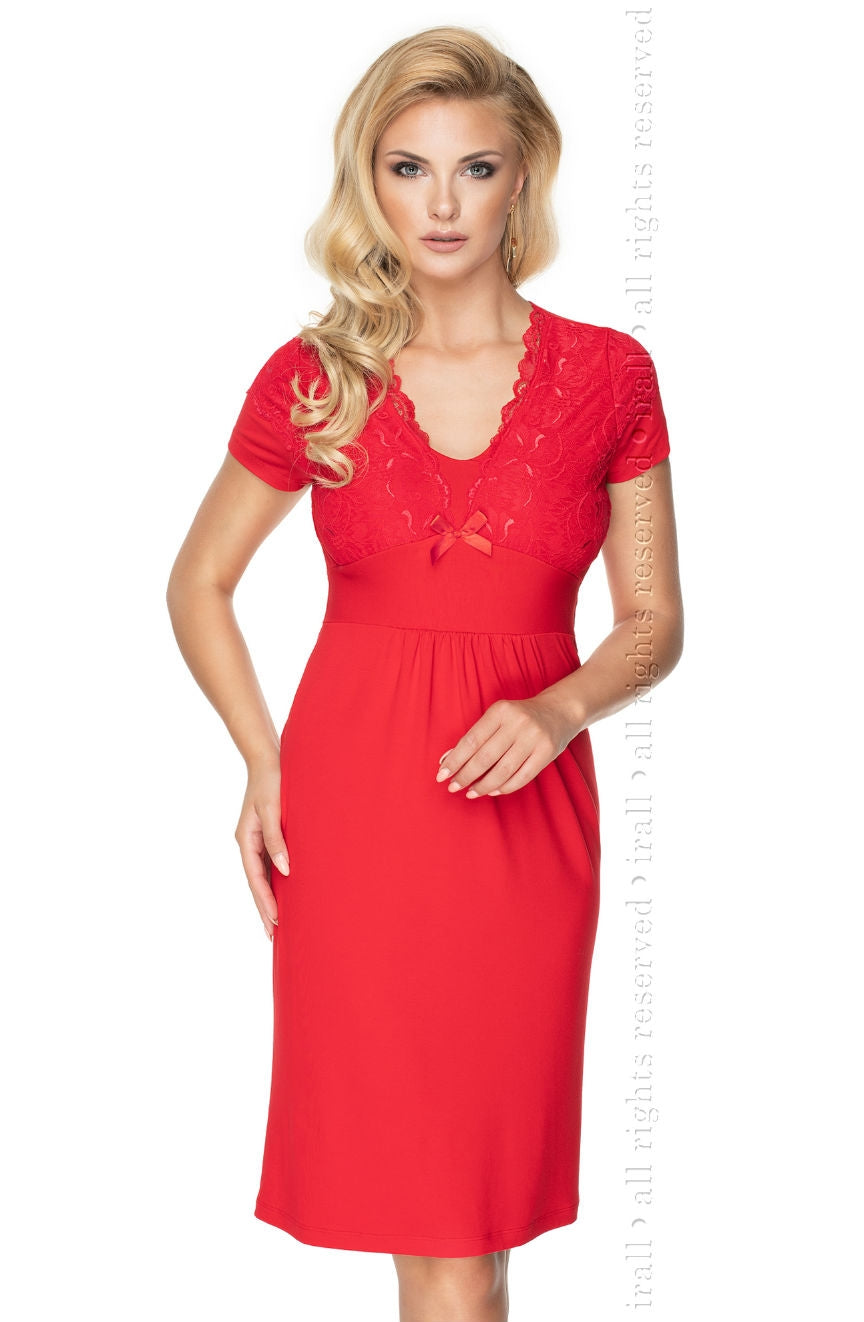 Irall Gia Nightdress Red - Dressed 2 Digress Limited