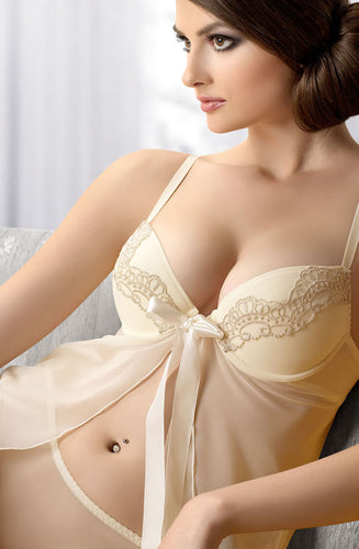 Gracya Nina Babydoll K143 Cream - Dressed 2 Digress Limited