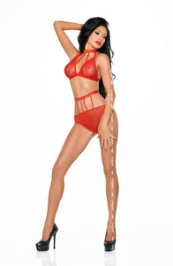 Me Seduce Hot Red Dotty Set