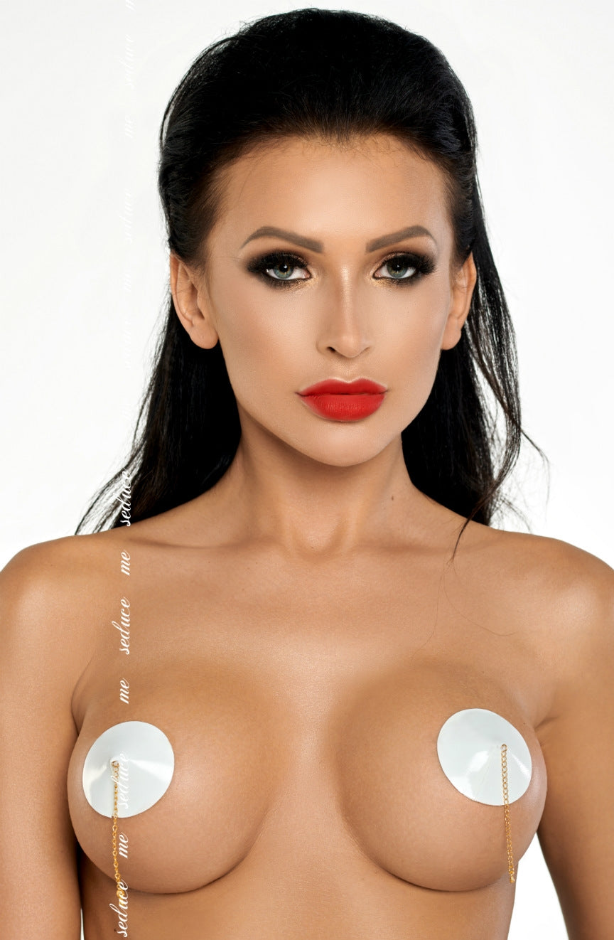 Me Seduce White & Gold Chain Nipple Covers