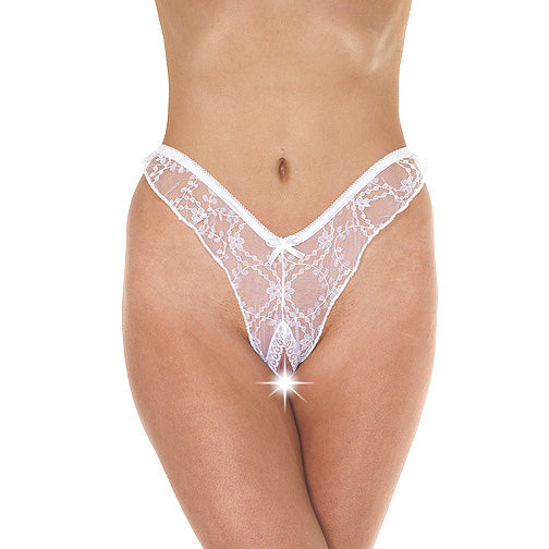 White Brazilian Open Briefs - Dressed 2 Digress Limited