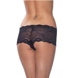 Black Lace Lingerie Shorts