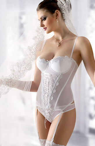 Gracya Juliette Corset W166 White - Dressed 2 Digress Limited