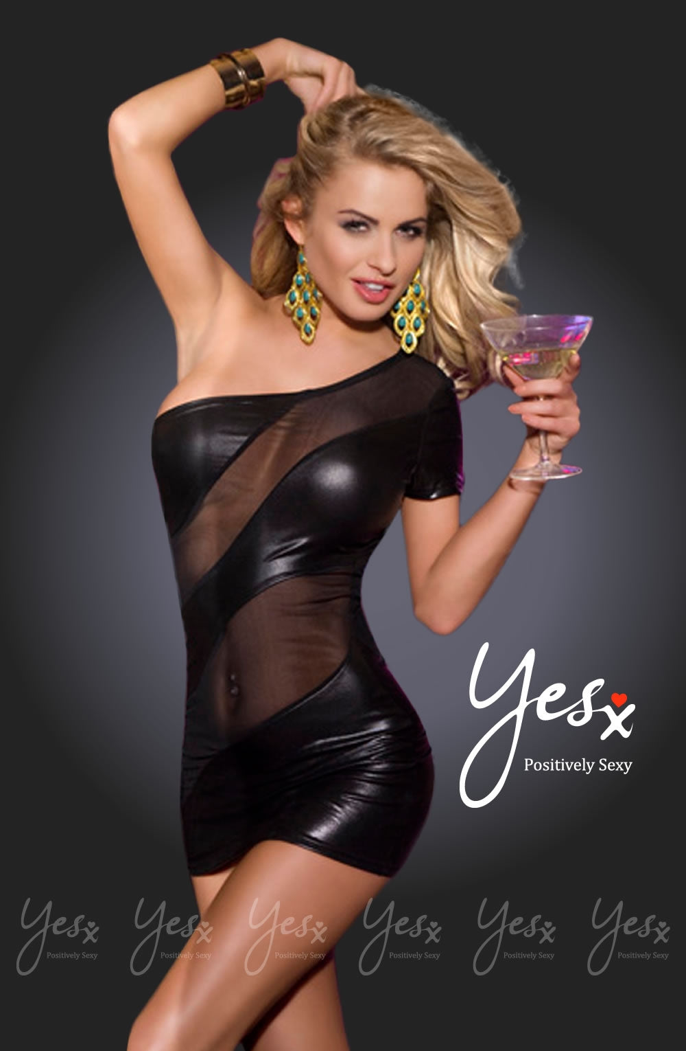 Yesx Cocktail Dress Black YX324 - Dressed 2 Digress Limited