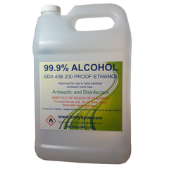 100% Denatured Alcohol (Ethanol)| 200 Proof | Buy Ethyl Alcohol For Antiviral Hand Sanitizers, Solvent & Antiseptic Uses, Surface Cleaning Wipes, Disinfection Sprays, Sterilization & Tinctures
