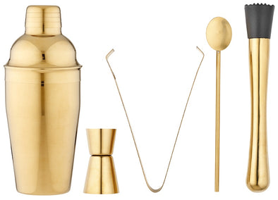 Aurora 5pc Gold Cocktail Set