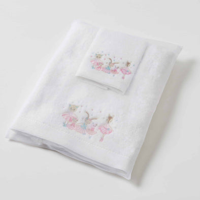 Ballerina Baby Towel / Face Washer Set