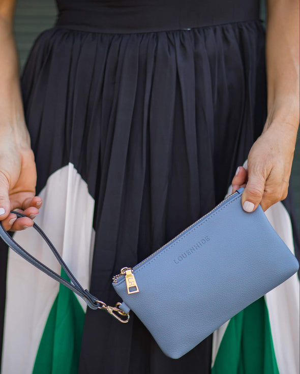 Perry  Chambray Clutch