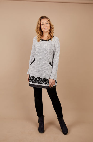 Holmes and Fallon Textured Knit Tunic
