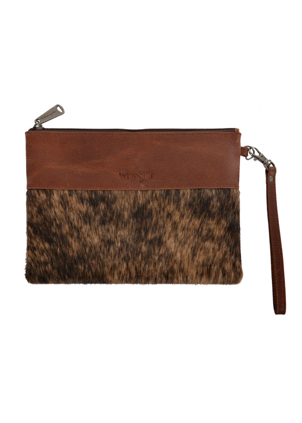 Wrangler Cowhide Clutch - Light Brown