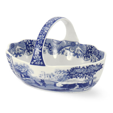 Spode Blue Italian - Handled Basket