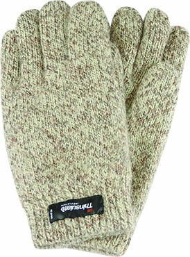 Mens Ragg Wool Thinsulate Glove - Beige
