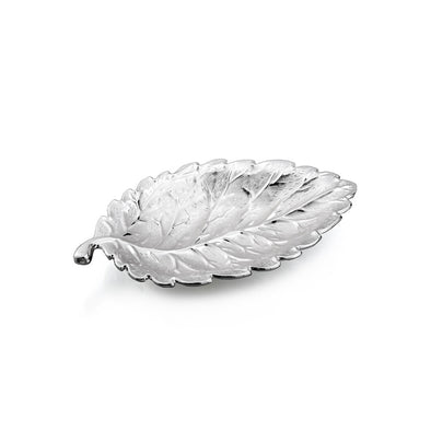 Nickel Plated Leaf Dish
