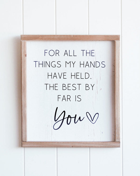 Hands Held You Quote Wall Art