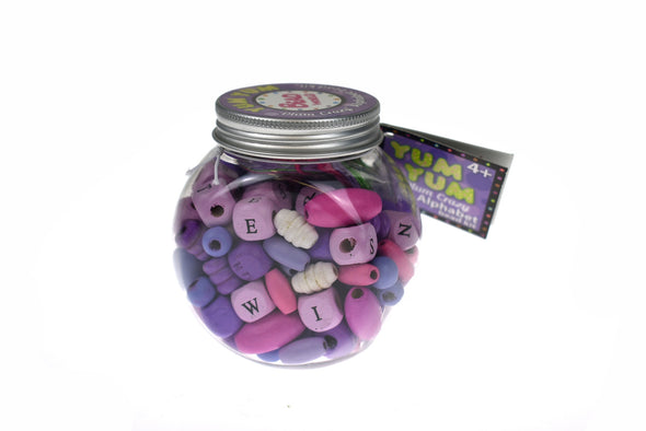 Yum Yum DIY Alphabet Bead Kit -Plum Crazy