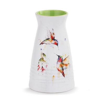 Hummingbirds Vase