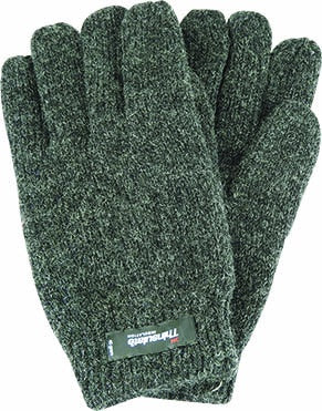 Mens Ragg Wool Thinsulate Glove - Charcoal