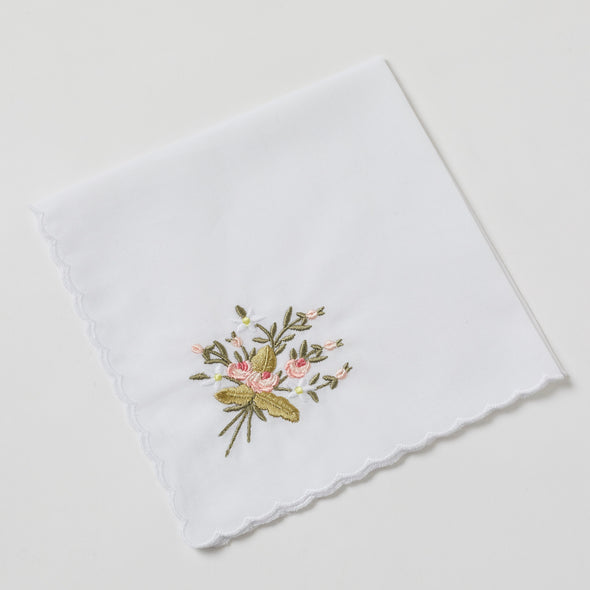 Embroidered Handkerchiefs - Rose