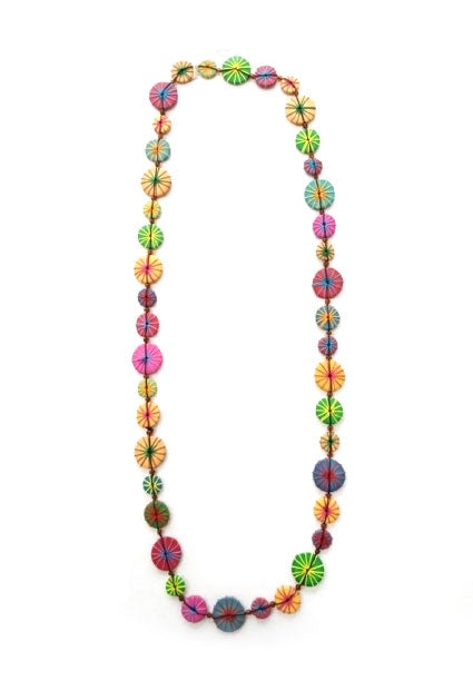 Multi Colour Wood Bead Necklace N6-62X