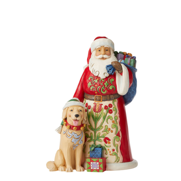 Heartwood Creek - Santa with Dog
