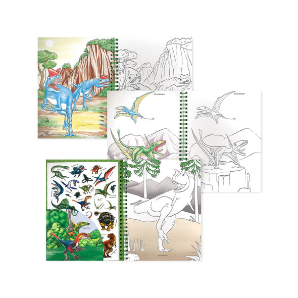 Dino World Colouring Book and Pencils